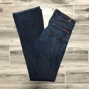 7 For All Mankind Dark Washed Bootcut Jeans - 26